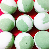 Mistletoe Bath Bomb handmade by Sunbasilsoap.com for Christmas gift giving