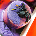 Gross spider soap for Halloween tricks and treats. Handmade by Sunbasilsoap.com