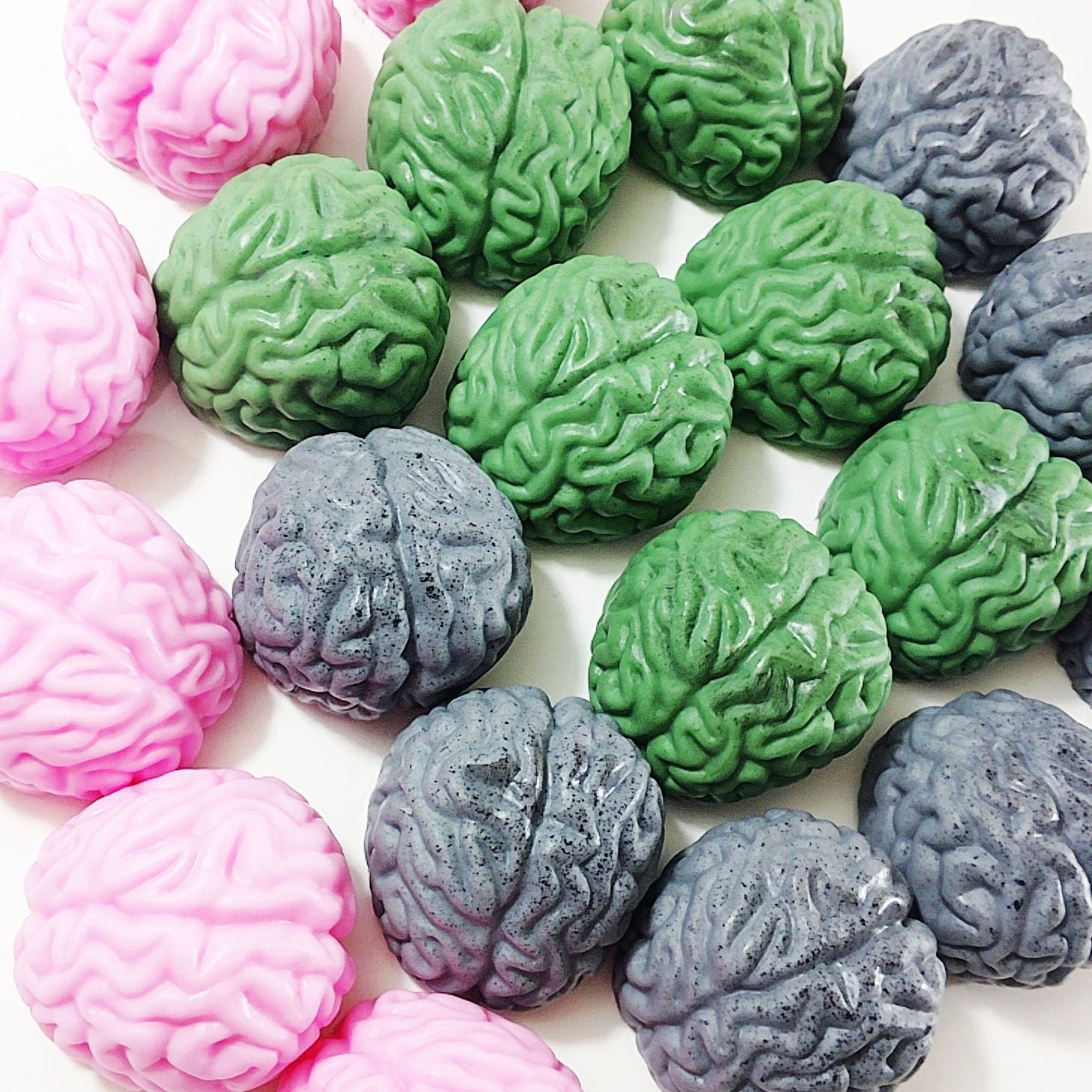 Zombie Brain soap gift set for Halloween gifts. Handmade by Sunbasilsoap.com