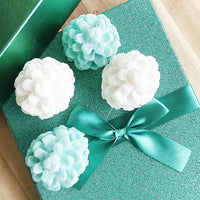 Pretty pinecone soaps handmade and perfect for holiday gifting by Sunbasilsoap.com