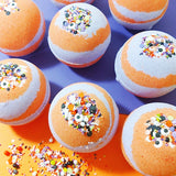 Monster Mash bath bomb that smells like Pumpkin Pecan Waffle Bath Bombs by Sunbasilsoap.com