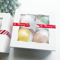 Holiday bath bomb gift set handmade by Sunbasil soap