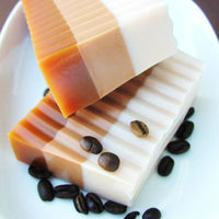 Coffee Soap that smells like a mocha latte from Starbucks handmade by Sunbasilsoap.com