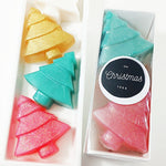 Christmas Tree Soap Gift Set for holiday handmade gifts by Sunbasilsoap.com