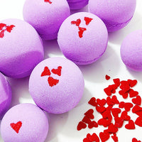 Smooches Bath Bomb perfect for Valentine's Day gift giving by Sunbasilsoap.com