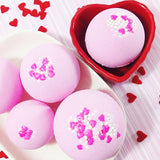 Strawberries and Champagne Bath Bomb at Sunbasil Soap perfect for Valentines Day