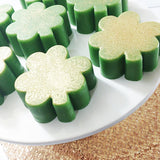 Shamrock Party Favor Soaps for St Patricks Day handmade at Sunbasil Soap
