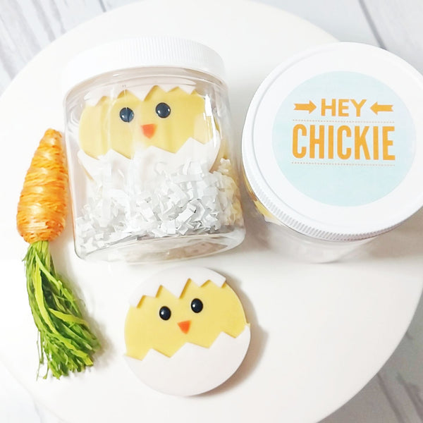 Easter Chick soaps for Easter basket fillers by Sunbasilsoap.com