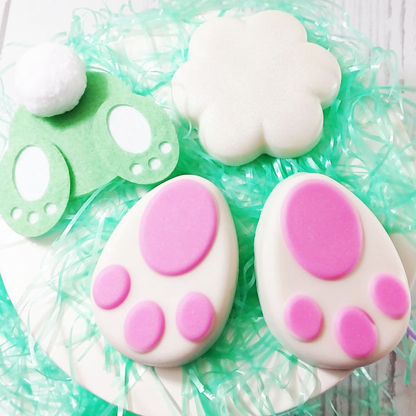 Easter Bunny Bottom and Paws Soap Gift Set by Sunbasilsoap.com