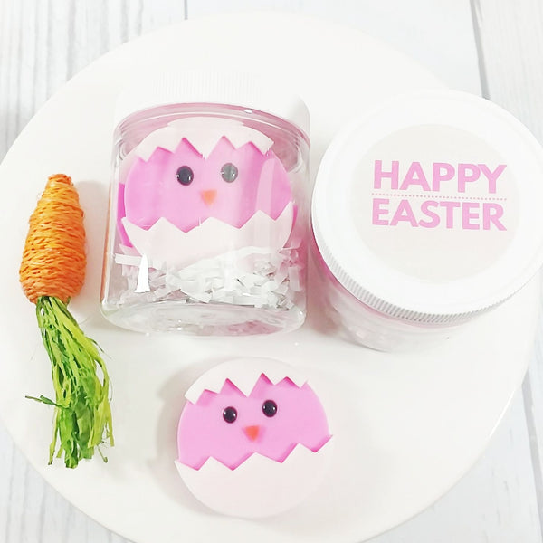 Pink Easter Chicks Soap Gift set handmade by Sunbasil Soap.com