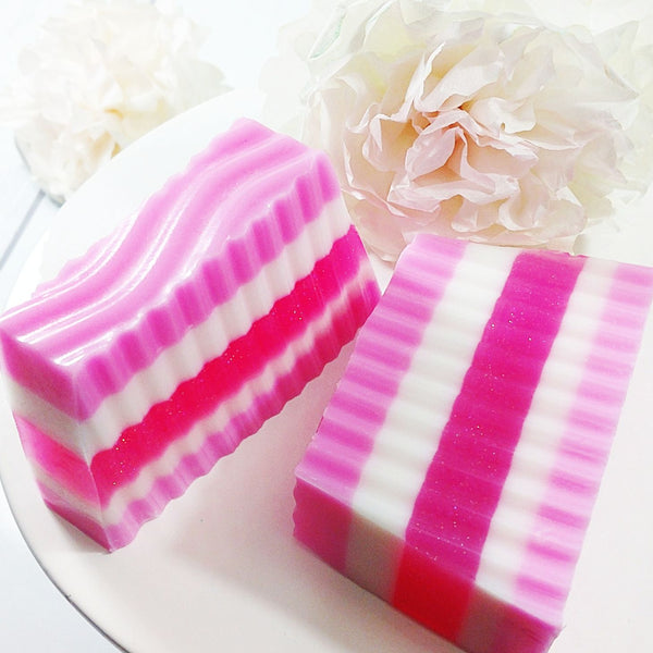 Cherry Blossom handmade soap by Sunbasilsoap.com