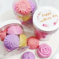 Mothers Day Flower soaps handmade at Sunbasil Soap