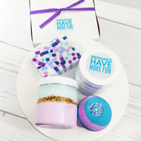 Mermaid spa gift set is the ultimate bath and body gift for your favorite Mermaid available at Sunbasil Soap