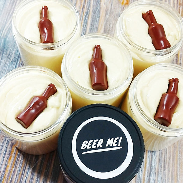 Beer Whipped Sugar Scrub Soap at Sunbasil Soap. Gifts for Him
