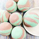 Camo bath bomb made for men at Sunbasil Soap