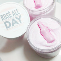Rosé all Day Whipped Sugar Scrub Soap for your best friends at Sunbasil Soap