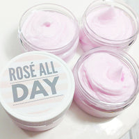Rosé All Day Whipped Body Butter Lotion handmade at Sunbasil Soap