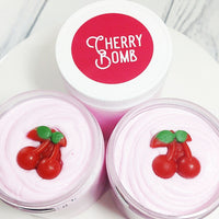 Cherry Bomb Whipped Sugar Scrub Soap at Sunbasilsoap.com