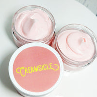 Orange Creamsicle Whipped Body butter available at Sunbasilsoap.com