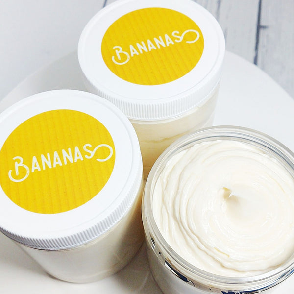 Bananas whipped body butter lotion at Sunbasil soap