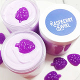 Raspberry Bath Bomb for relaxing away stress available at Sunbasil Soap