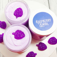 Raspberry Swirl Sugar Scrub Soap to exfoliate your skin naturally at Sunbasil Soap