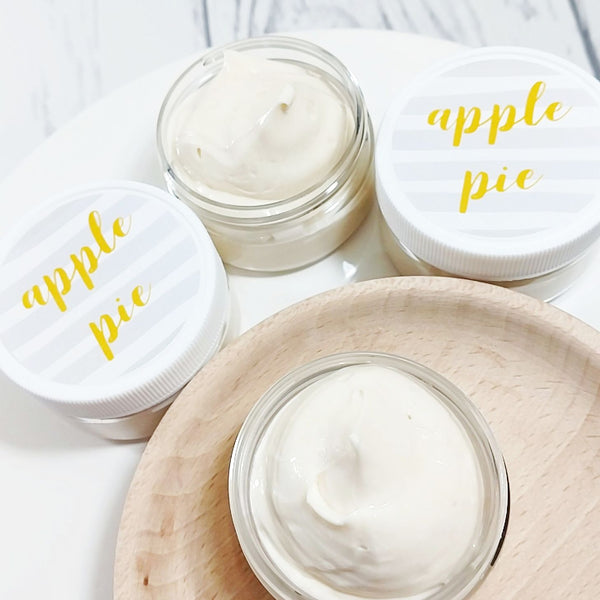 Apple Pie body butter available only at Sunbasil Soap