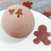 Gingerbread Bath Bomb www.sunbasilsoap.com