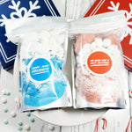 Stocking Stuffer Two Pack of Holiday Bath Bomb Fizzy Dust Handmade Christmas bath bomb crumbles at Sunbasil Soap