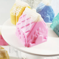 Gingerbread House Soap handmade at Sunbasil soap for the perfect holiday gift