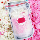 Bath Bomb Fizzy Powder: Berry www.sunbasilsoap.com