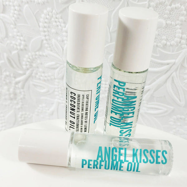 Angel Kisses Perfume Oil www.sunbasilsoap.com