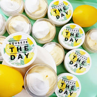 Lemon Pie Whipped Body Butter natural body lotion to help Squeeze the Day at Sunbasilsoap.com