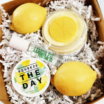Squeeze the Day Lemon Spa Gift Set unique handmade gift set. Housewarming gift. Gift for Her and Mothers Day Gift at Sunbasil Soap