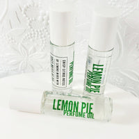 Lemon Pie perfume oil is an all natural roll on perfume handmade in Middletown, Delaware at Sunbasilsoap.com