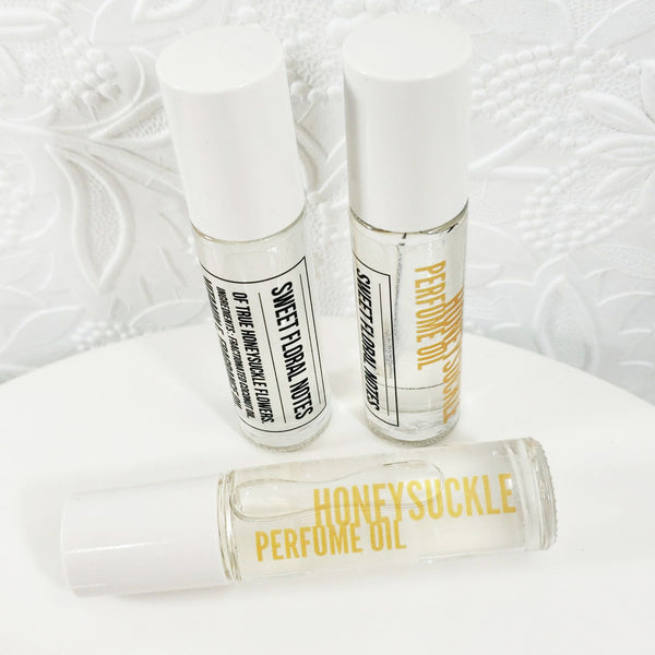 Honeysuckle Perfume Oil www.sunbasilsoap.com