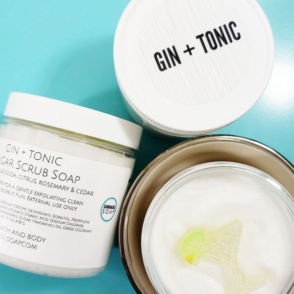 Gin and Tonic Body Scrub www.sunbasilsoap.com