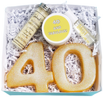 40th Birthday Spa Gift Box www.sunbasilsoap.com