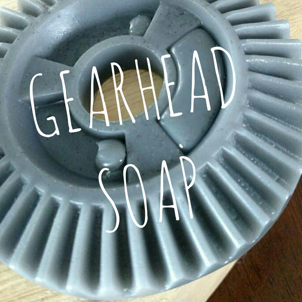 Soap made out of an engine gear - sunbasilgarden.com