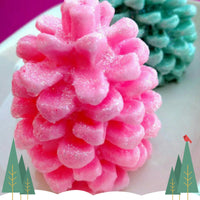 Candy cane pinecone soap handmade at Sunbasil Soap for teacher gifts