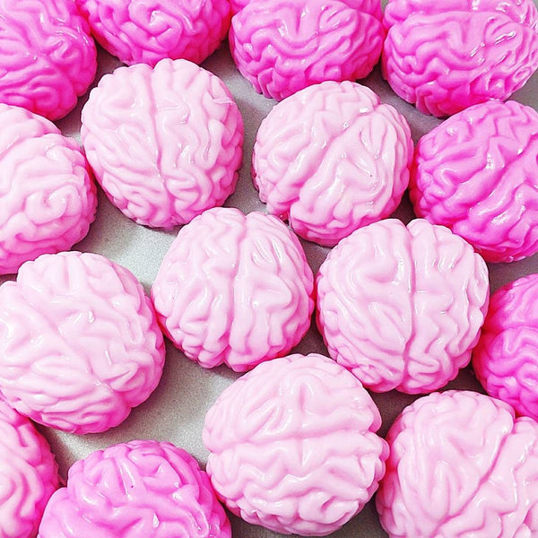 Brain soaps perfect for Halloween gift giving by Sunbasil Soap