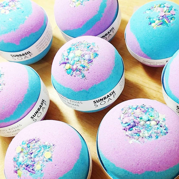 Mermaid Bath Bombs at Sunbasil Soap