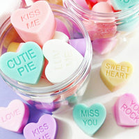 Sweetheart conversation soap hearts by sunbasilsoap.com
