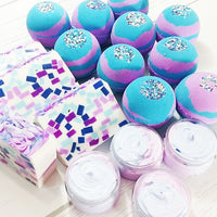 Mermaid Bath Bombs www.sunbasilsoap.com