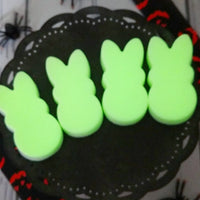Glow in the dark Halloween soap peeps for your Halloween gifts at Sunbasil soap