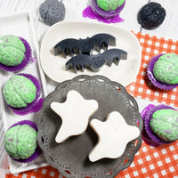 Halloween Bat and Ghost Soap gift set combo for handmade Halloween gifts available at Sunbasilsoap.com
