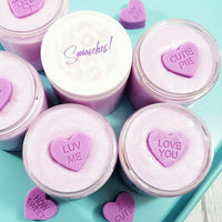 Blackberry Sugar Scrub Soap Smooches handmade made whipped soaps to exfoliate and perfect for Valentine's Day gifts