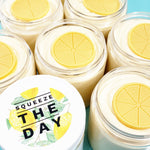 Lemon Pie Whipped Sugar Scrub Soap at Sunbasil Soap