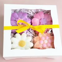 Spring Flowers Soap Gift Set www.sunbasilsoap.com