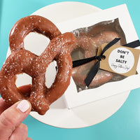 Don't Be Salty Soft Pretzel Soap Gift Set for Father's Day www.sunbasilsoap.com